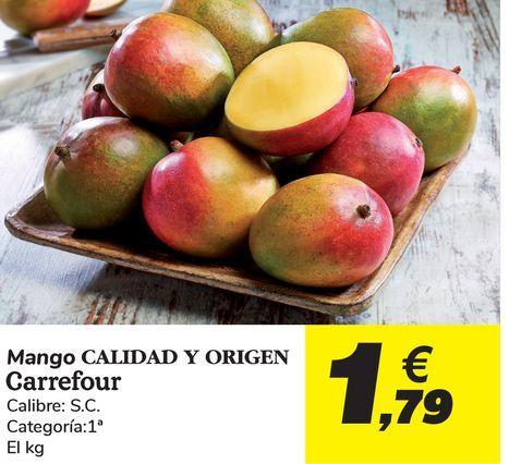 Oferta de Mangos Carrefour por 1,79€