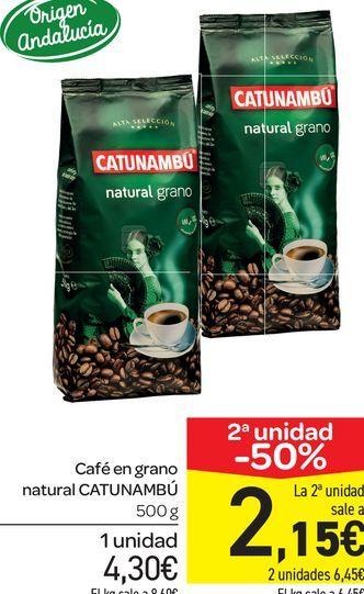Oferta de Café en grano natural Catunambú 500 g por 4,3€