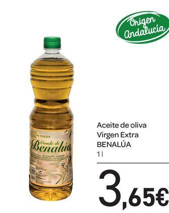 Oferta de Aceite de oliva virgen extra BENALÚA 1l por 3,65€