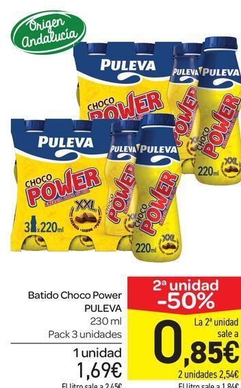 Oferta de Batido choco Puleva 230 ml, pack de 3 uds por 1,69€