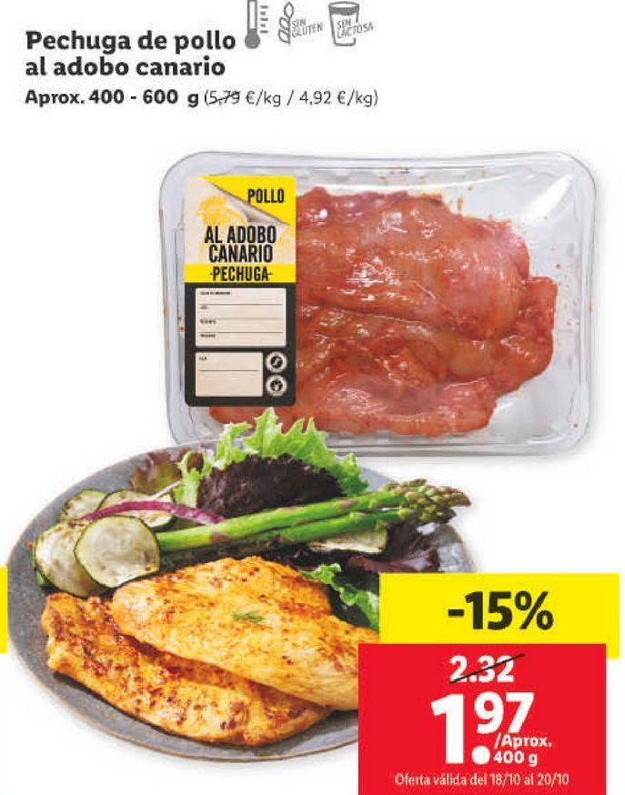Oferta de Pechuga de pollo por 1,97€