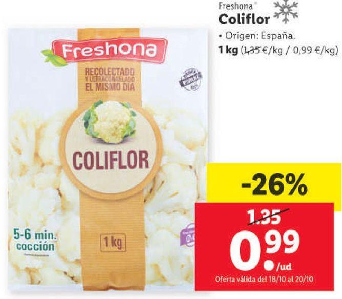 Oferta de Coliflor Freshona por 0,99€
