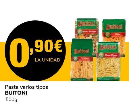 Oferta de Pasta varios tipos BUITONI por 0,9€