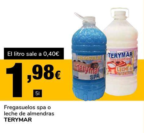 Oferta de Fregasuelos spa o leche de almendras TERYMAR por 1,98€