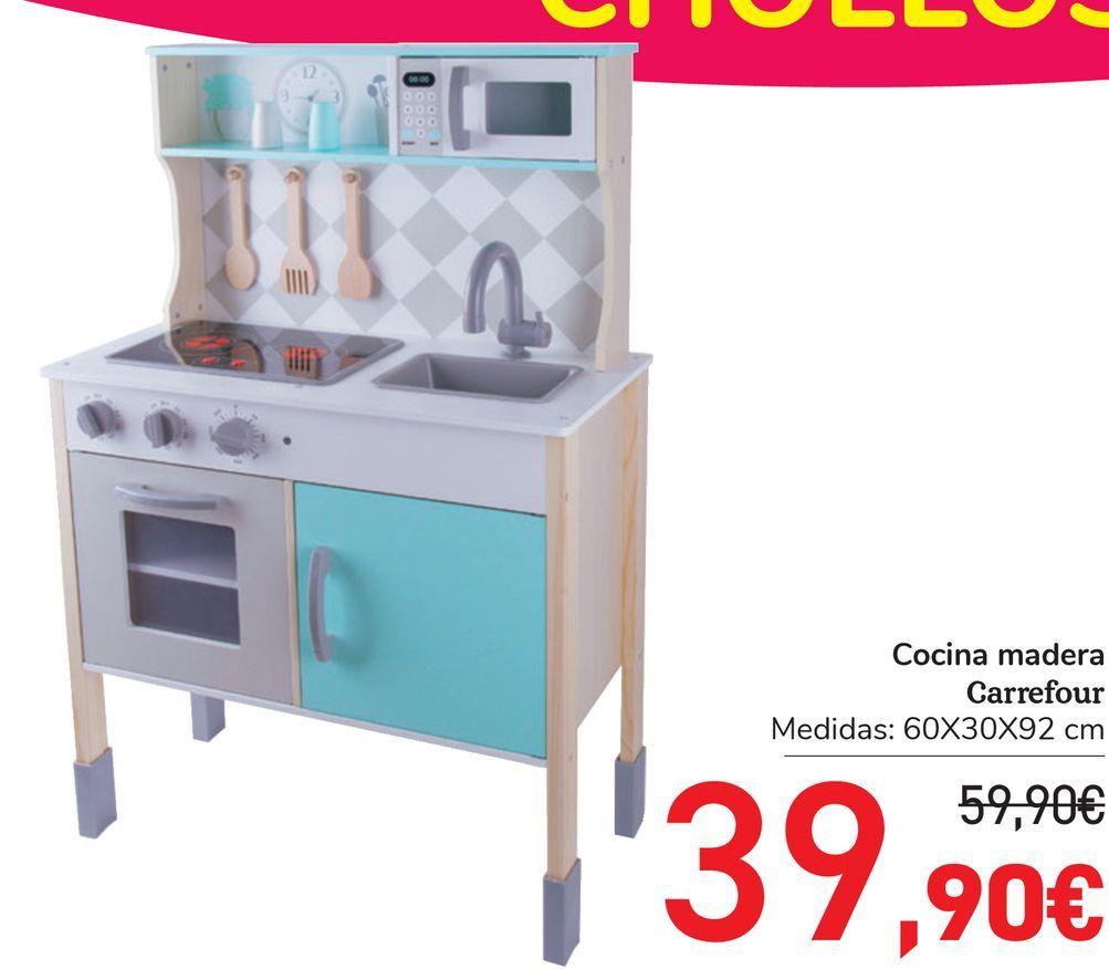 Oferta de Cocina madera Carrefour por 39,9€