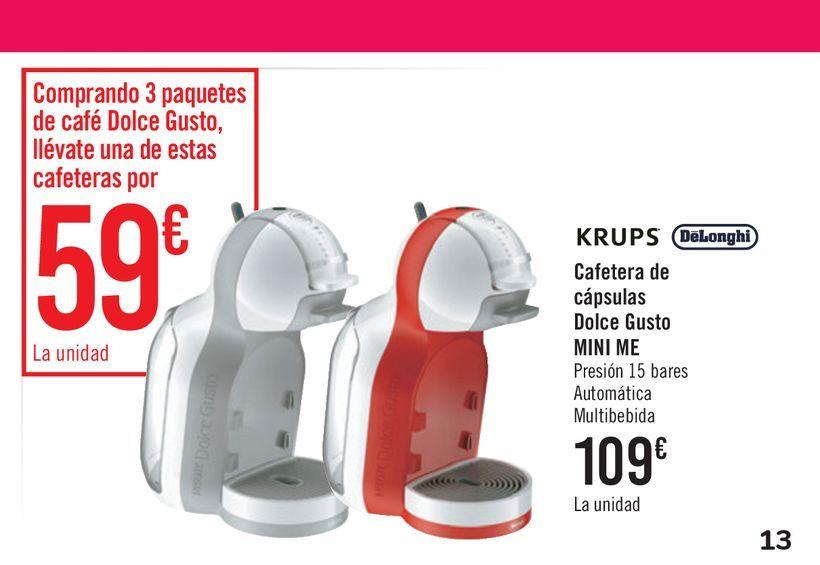 Oferta de Cafetera de cápsulas Dolce gusto MINI ME por 109€