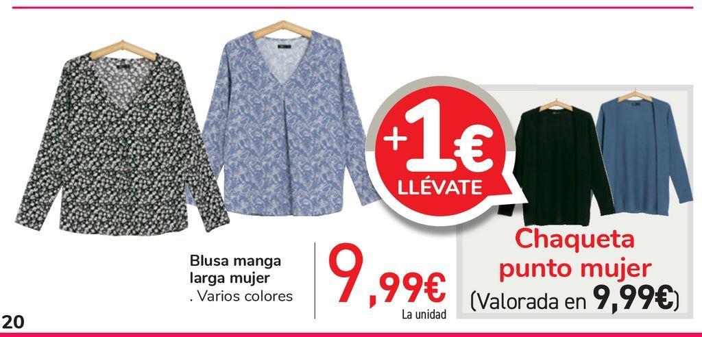 Oferta de Blusa manga larga mujer por 9,99€