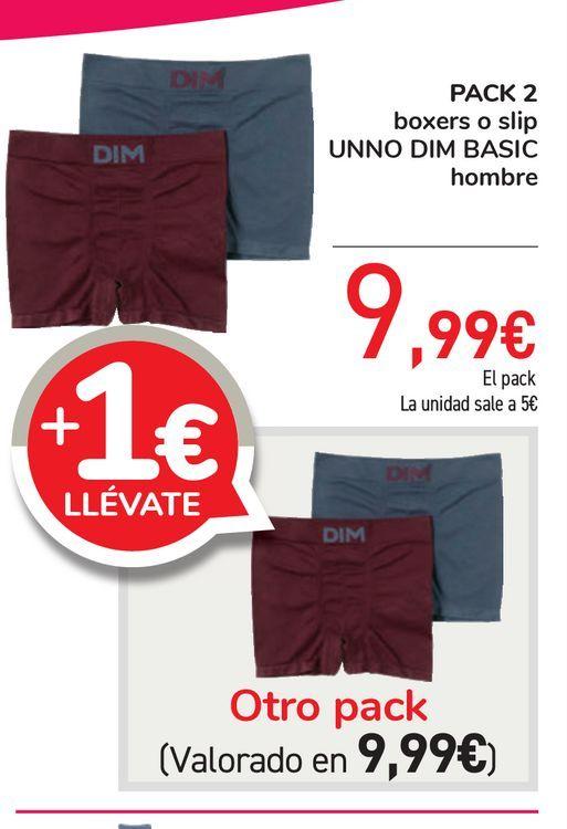 Oferta de PACK 2 boxers o slip UNNO DIM BASIC hombre por 9,99€