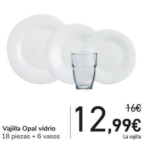 Oferta de Vajilla Opal vidrio por 12,99€