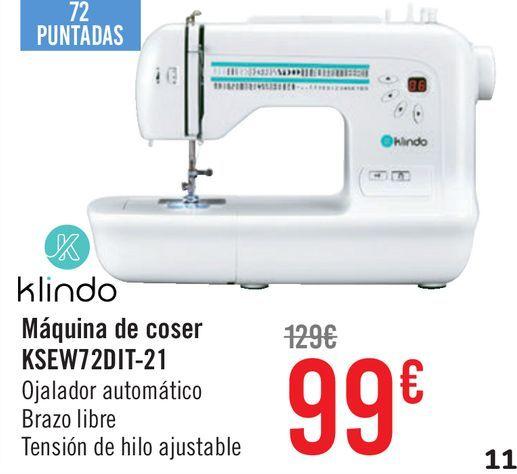 Oferta de Máquina de coser KSEW72DIT-21 por 99€