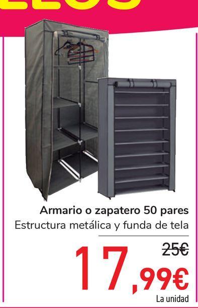 Oferta de Armario o zapatero 50 pares por 17,99€