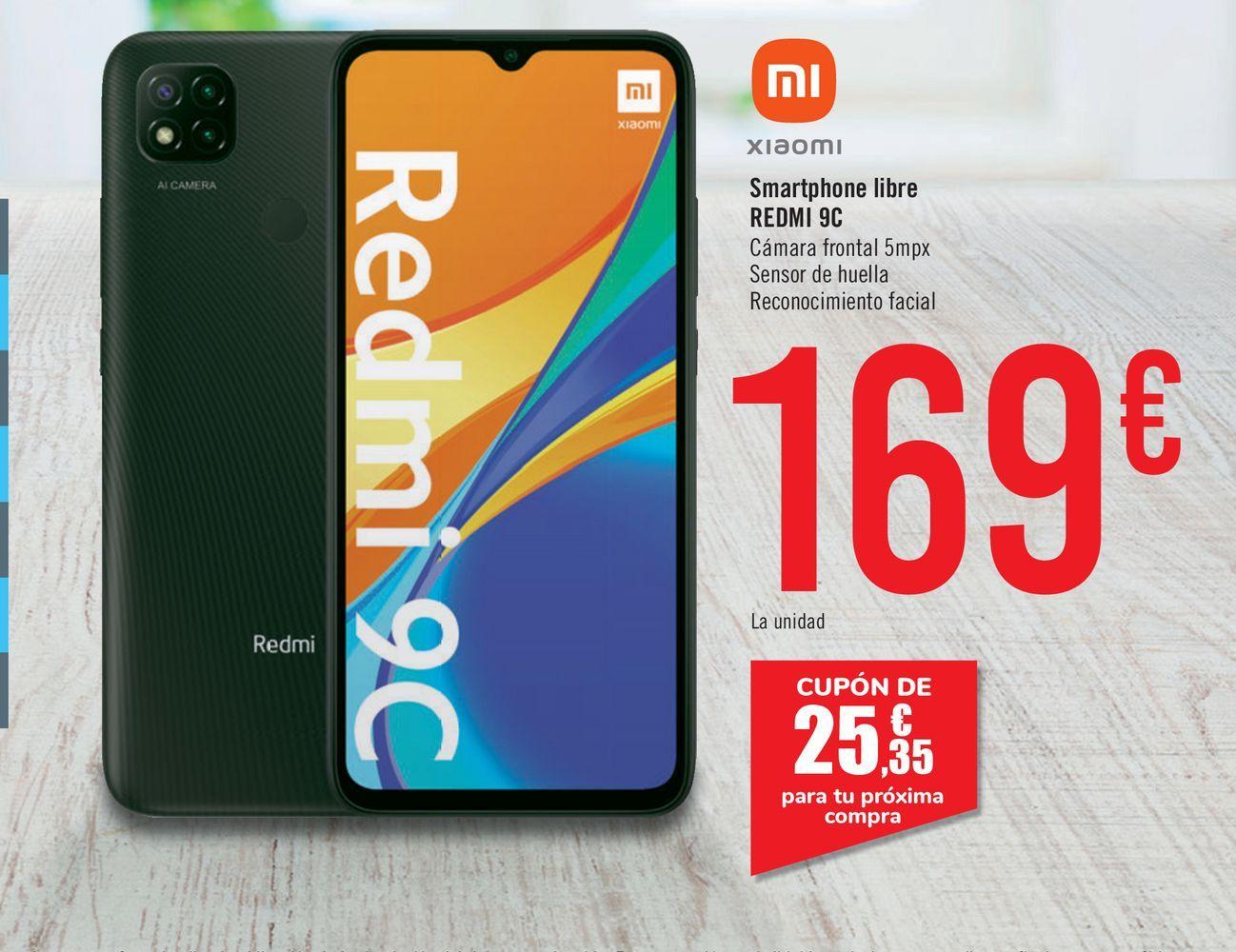 Oferta de Smartphones libre Redmi 9C por 169€