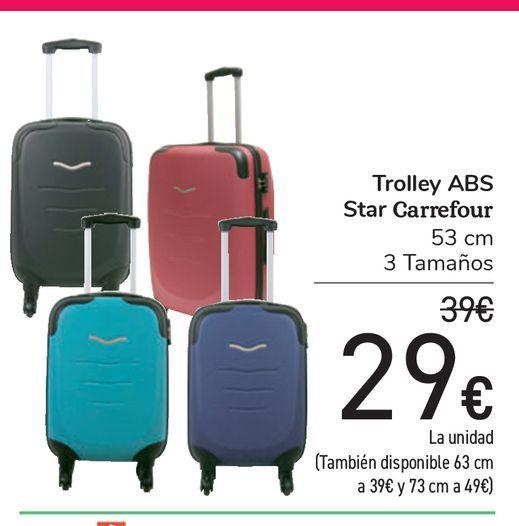 Oferta de Trolley ABS Star Carrefour por 29€