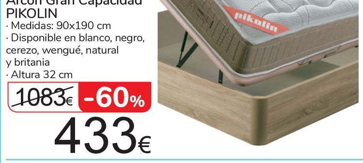 Oferta de Arcón Gran Capacidad PIKOLIN por 433€