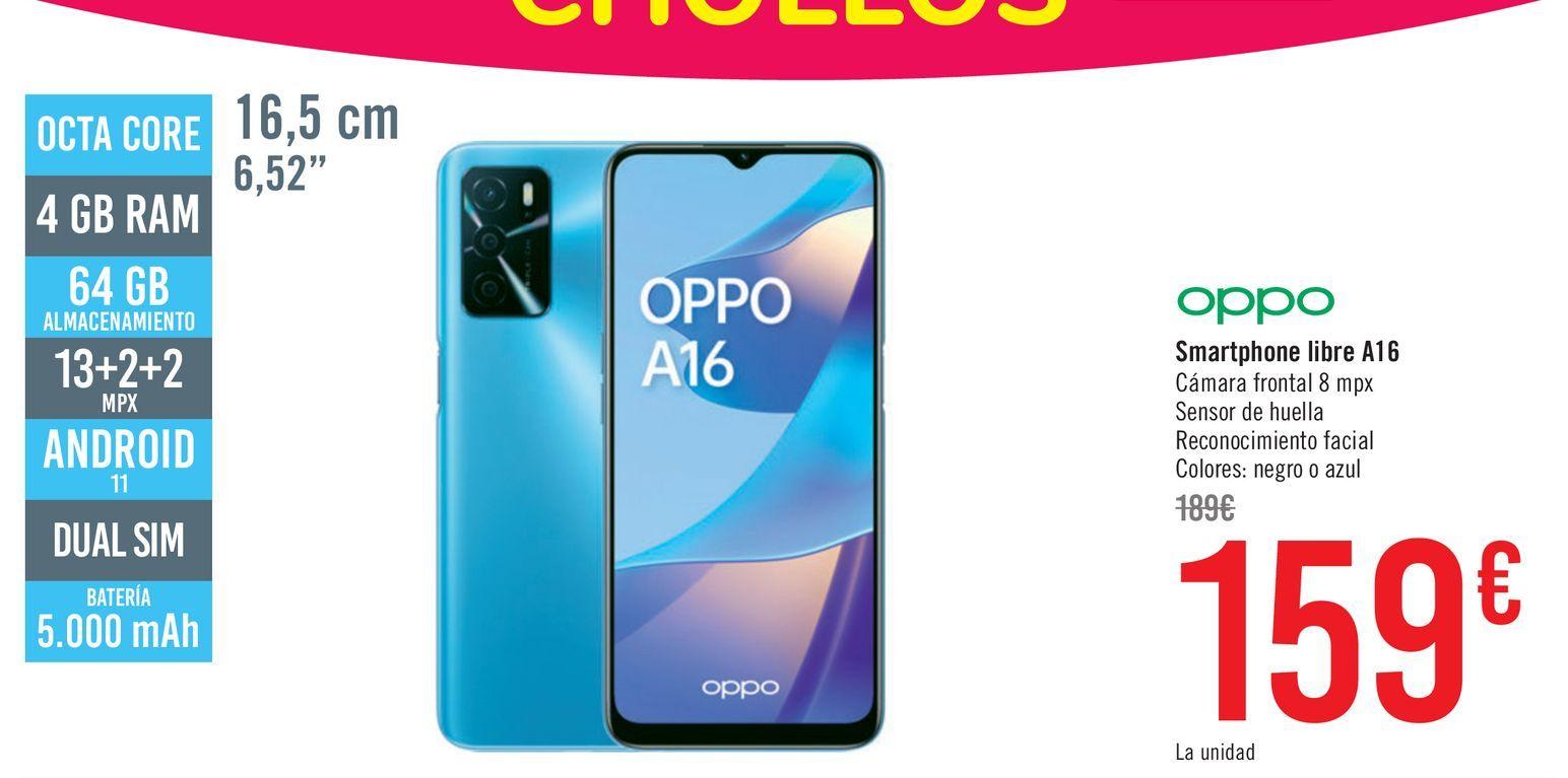 Oferta de Oppo Smartphone libre A16  por 159€