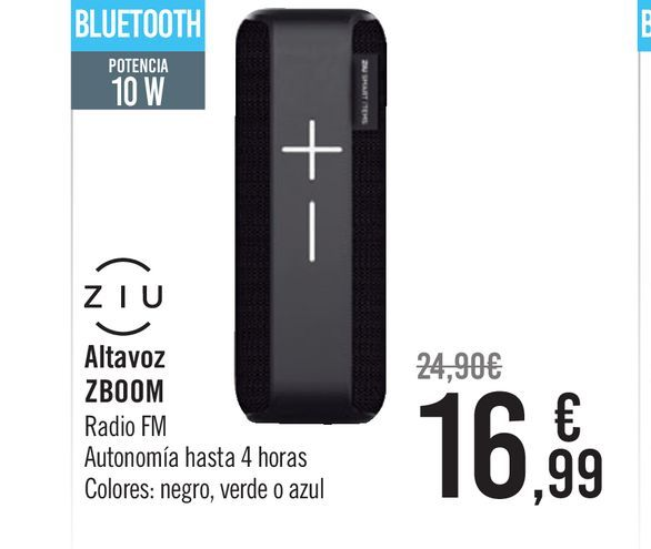 Oferta de Altavoz Ziu ZBoom por 16,99€