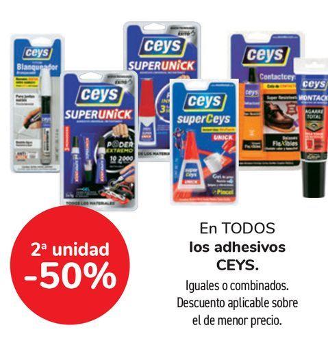 Oferta de En TODOS los adhesivos CEYS por