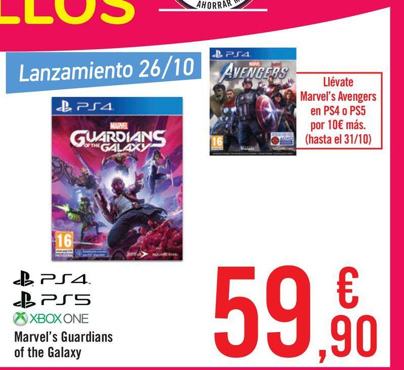 Oferta de Marvel's Guardians of the Galaxy por 59,9€