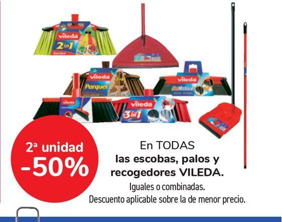 Oferta de Escobas, palos y recogedores VILEDA. por