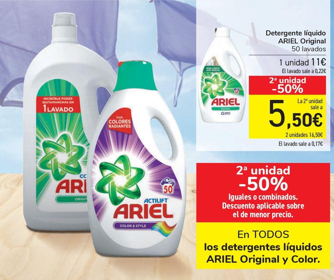 Oferta de En TODOS los detergentes líquidos ARIEL Original y Color  por