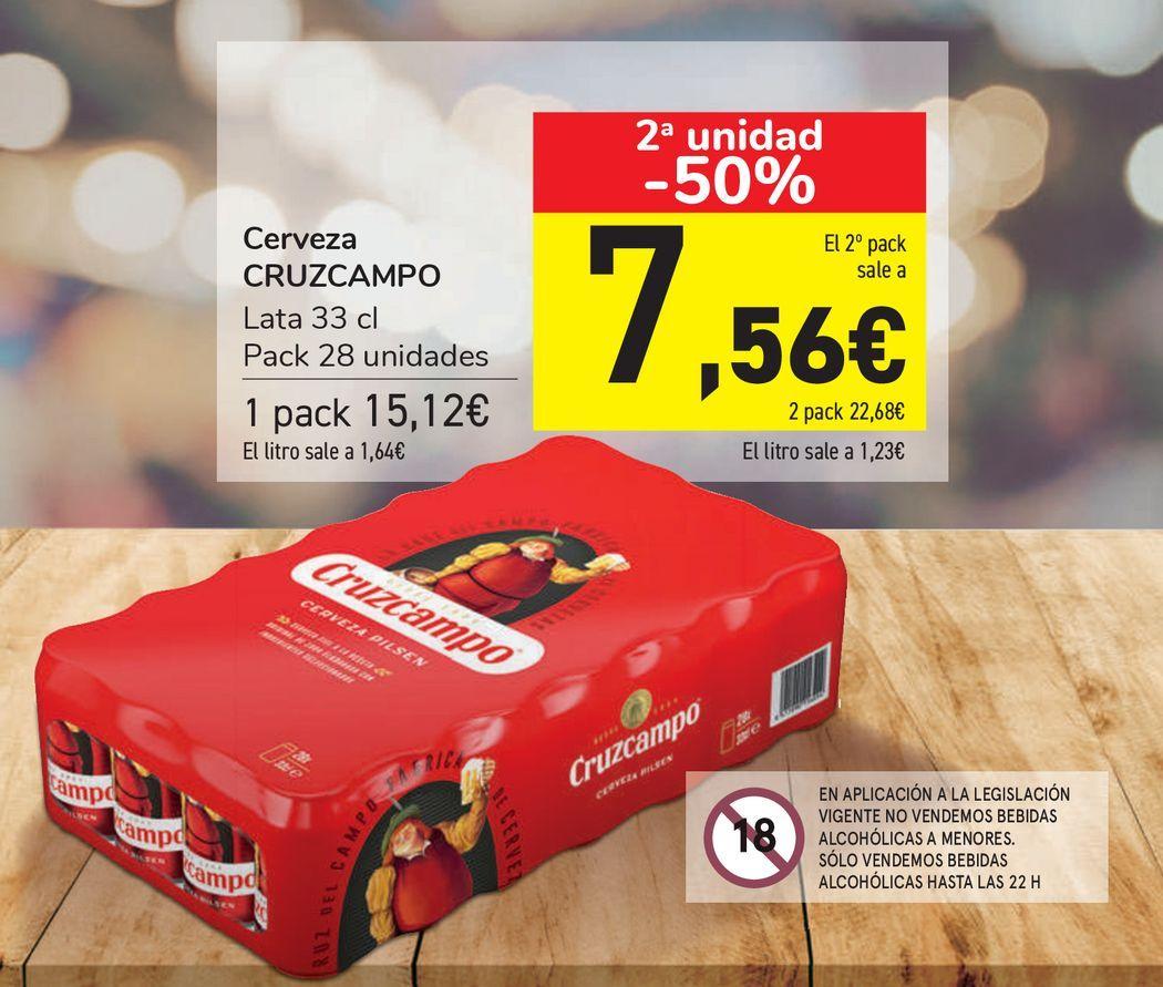 Oferta de Cerveza CRUZCAMPO  por 15,12€