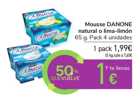 Oferta de Mousse DANONE natural o lima-limón  por 1,99€