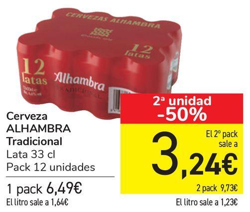 Oferta de Cerveza ALHAMBRA Tradicional  por 6,49€