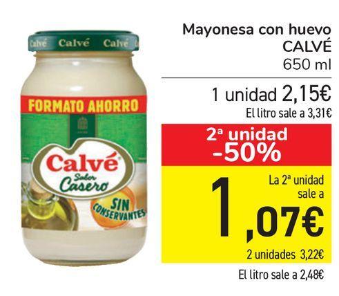 Oferta de Mayonesa con huevo CALVÉ  por 2,15€