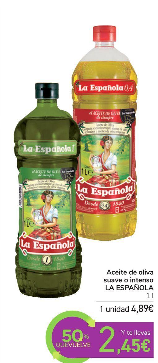 Oferta de Aceite de oliva suave o intenso LA ESPAÑOLA por 4,89€