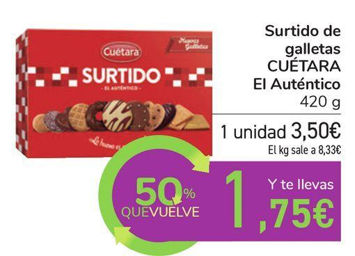 Oferta de Surtido de galletas CUÉTARA El Auténtico  por 3,5€