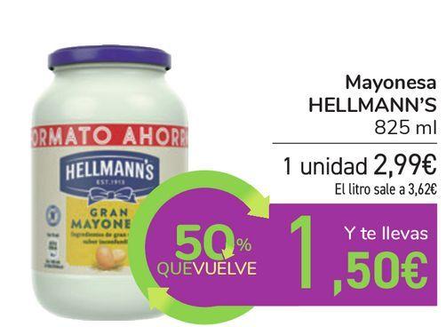 Oferta de Mayonesa HELLMANN'S por 2,99€