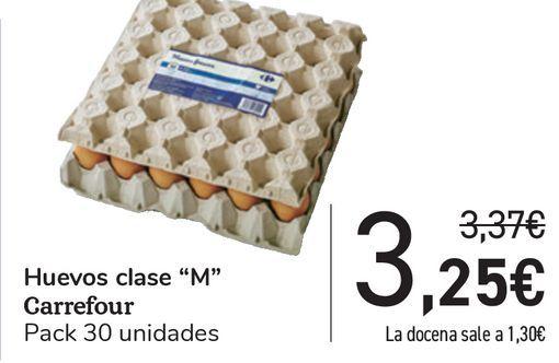 Oferta de Huevos Clase ''M'' Carrefour  por 3,25€