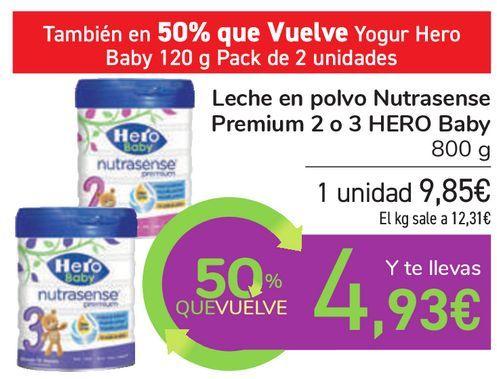 Oferta de Leche en polvo Nutrasense Premium 2 o 3 HERO Baby por 9,85€
