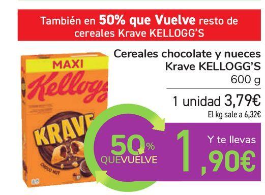 Oferta de Cereales chocolate y nueces Krave KELLOGG'S por 3,79€