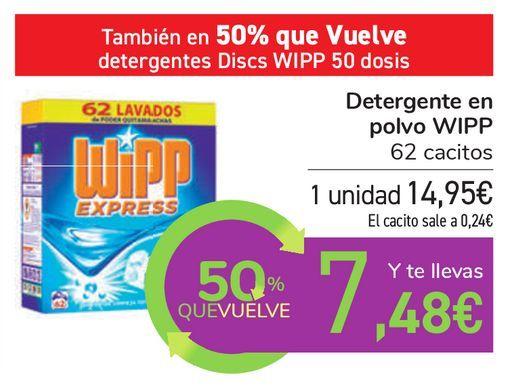 Oferta de Detergente en polvo WIPP por 14,95€