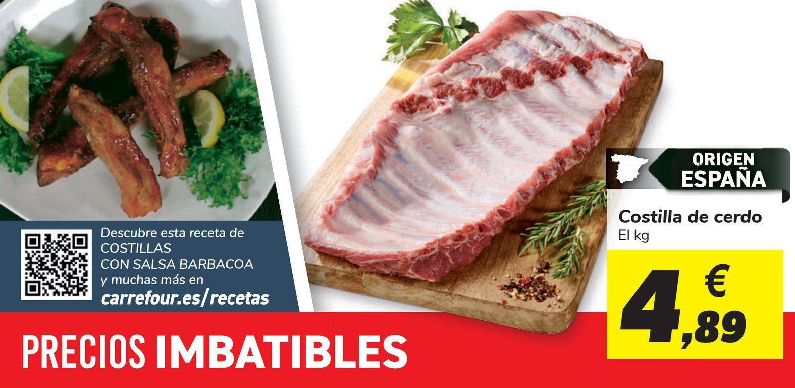 Oferta de Costilla de cerdo  por 4,89€