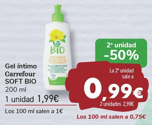 Oferta de Gel íntimo Carrefour SOFT BIO  por 1,99€
