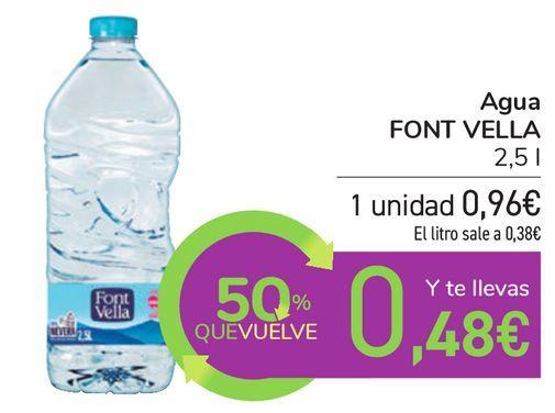 Oferta de Agua FONT VELLA  por 0,96€