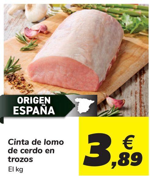 Oferta de Cinta de lomo de cerdo en trozos  por 3,89€