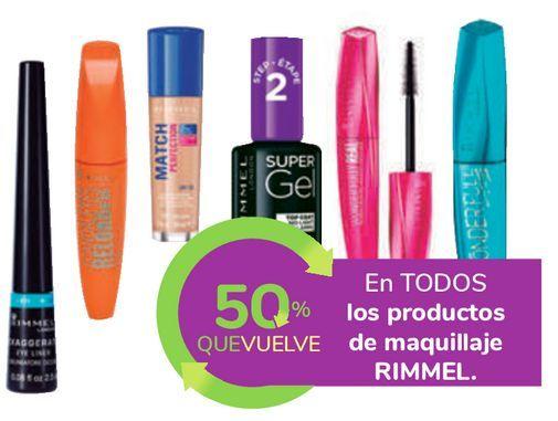 Oferta de En TODOS los productos de maquillaje RIMMEL por