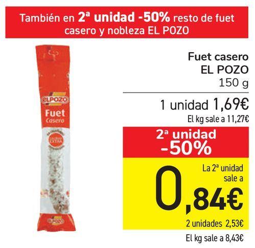 Oferta de Fuet casero EL POZO  por 1,69€