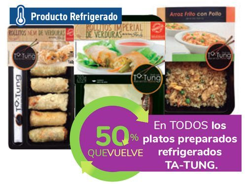 Oferta de En TODOS los platos preparados refrigerados TA-TUNG por
