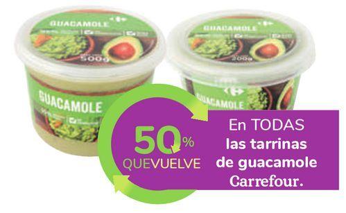 Oferta de En TODAS las tarrinas de guacamole Carrefour  por