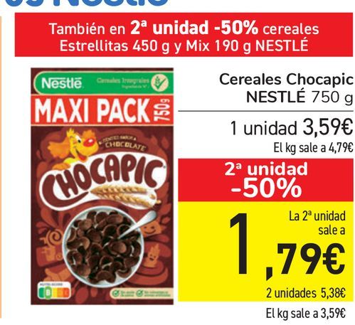 Oferta de Cereales Chocapic NESTLÉ  por 3,59€