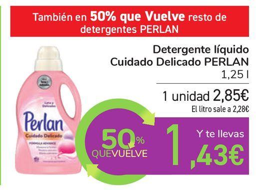 Oferta de Detergente líquido Cuidado Delicado PERLAN  por 2,85€