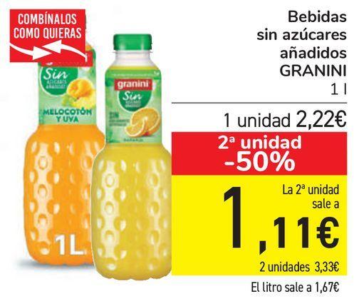 Oferta de Bebidas sin azúcares añadidos GRANINI  por 2,22€