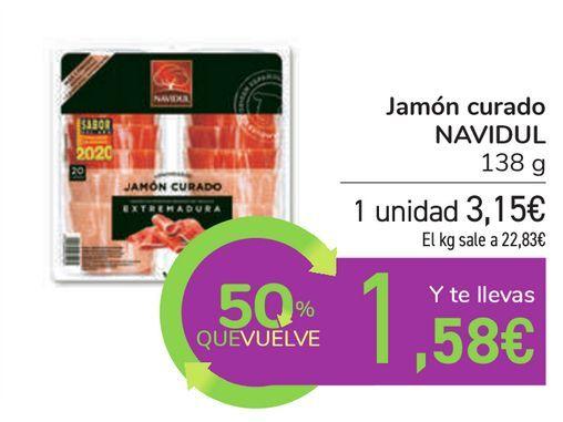 Oferta de Jamón curado NAVIDUL por 3,15€