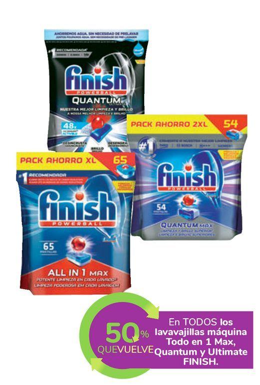 Oferta de En TODOS los lavavajillas máquina Todo en 1 Max, Quantum y Ultimate FINISH por