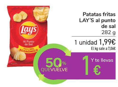 Oferta de Patatas fritas LAY'S al punto de sal por 1,99€