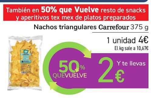 Oferta de Nachos triangulares Carrefour por 4€